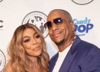 Wendy Williams wearing dress by Norma Kamali and Kevin...