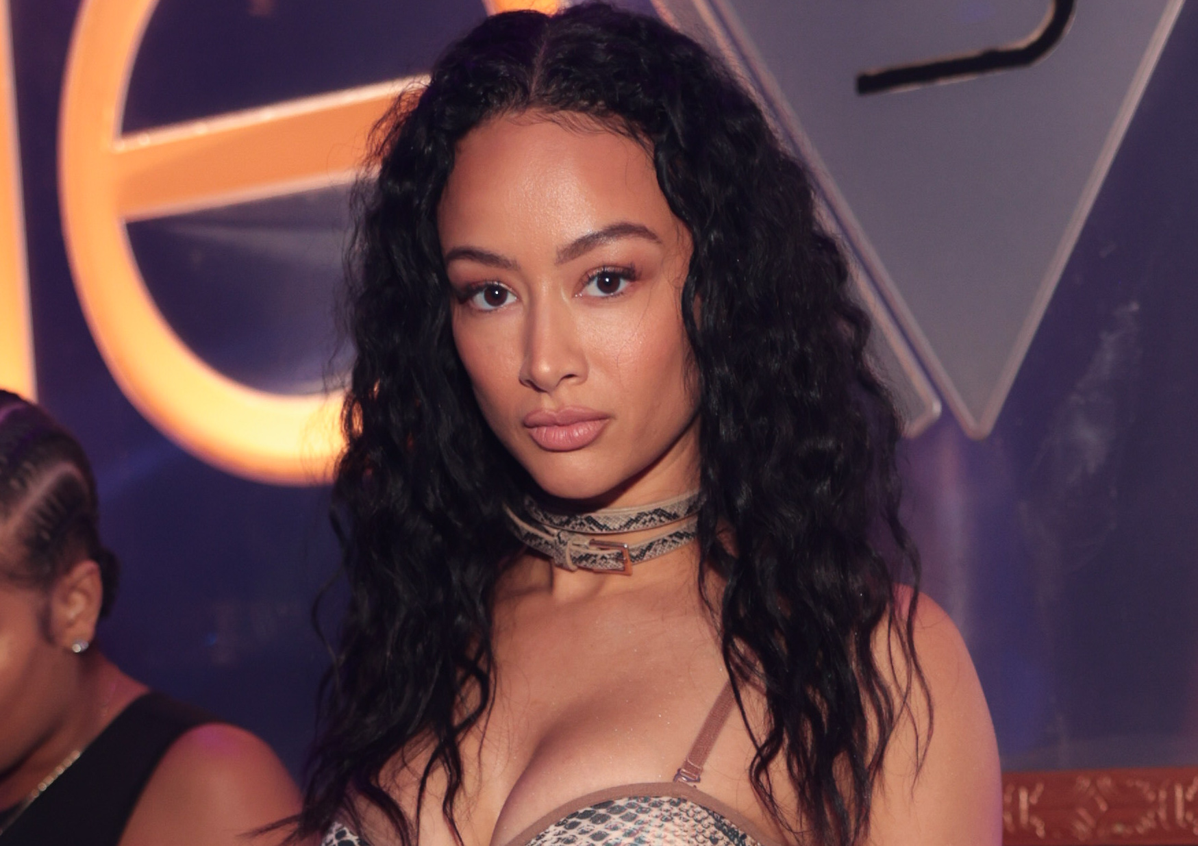 Draya Michele Slays In Snakeskin While Partying With Meek Mill & Roddy Ricch