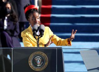 Amanda Gorman Recites Poem at the President Of The United States Inauguration Ceremony