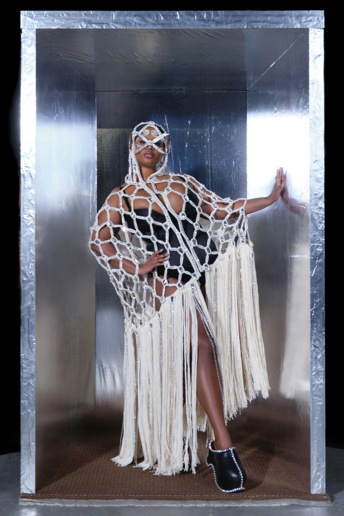 Precious Lee in Area Haute Couture Spring Summer 2021 Paris Fashion Week Show