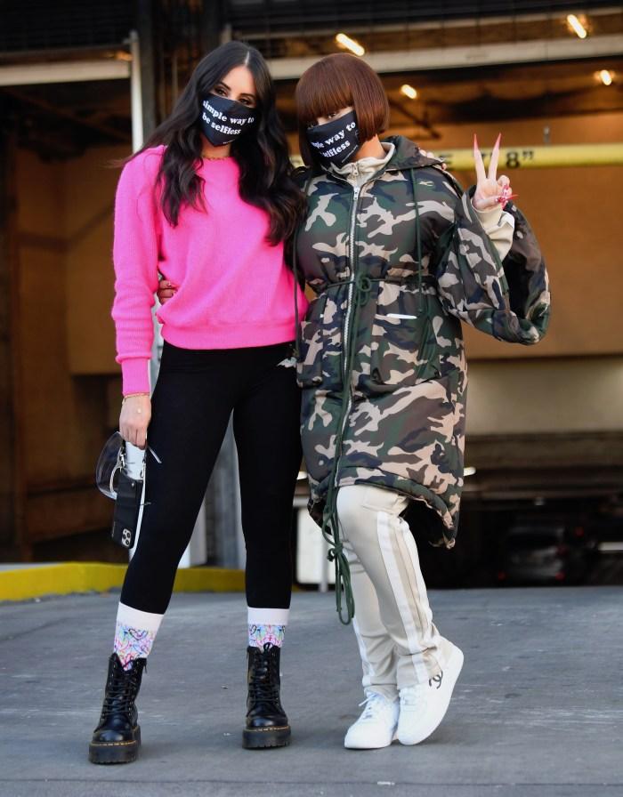 Blac Chyna and boyfriend Lil Twin visit Skid Row
