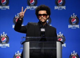 The Weeknd at Super Bowl LV Press Conference