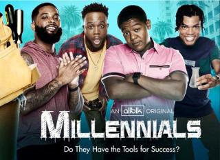 Millenials key art and logo