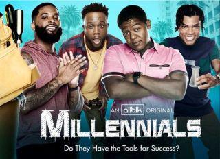 Millenials key art and logo