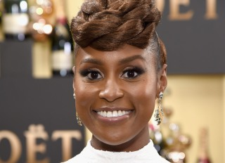 Issa Rae attends the Golden Globes