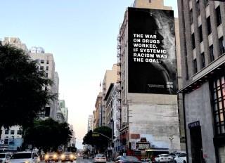 Monogram headline billboard