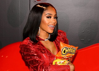 Saweetie attends Cheetos event