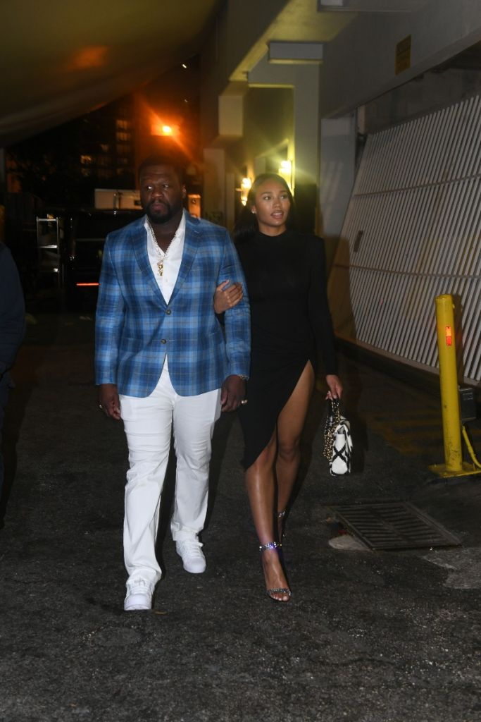 Cuban Link and 50 Cent attend a Miami Haute Living event at the Setai Miami Beach