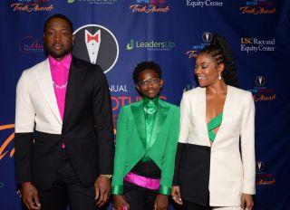 Dwayne Wade, Zaya and Gabrielle Union