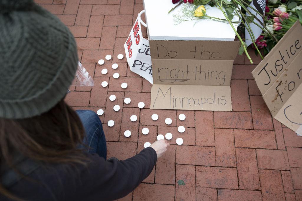 Protest in Minneapolis ahead of George Floyd murder trial