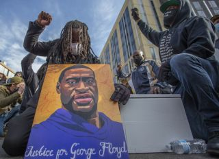 Protest in Minneapolis ahead of George Floyd murder trial