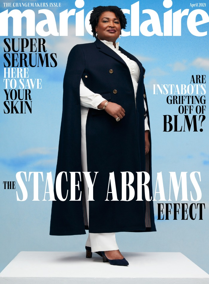 Stacey Abrams April 2021 Marie Claire Cover And Featured Images