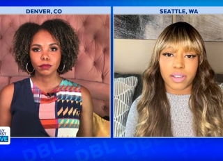 """Co-host Erica Cobb and Alleah Taylor on """"Daily Blast Live"""""""