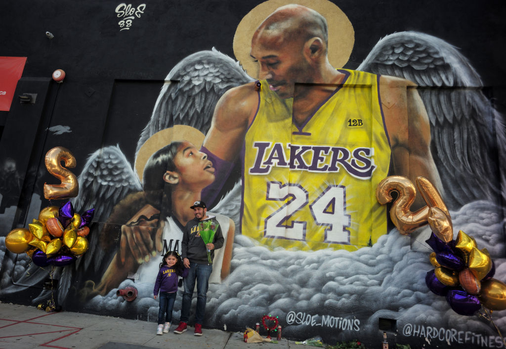 Fans of Kobe Bryant came out to celebrate the life and legacy around murals and makeshift memorials in Los Angeles.