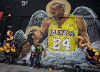 Kobe and Gianna Mural