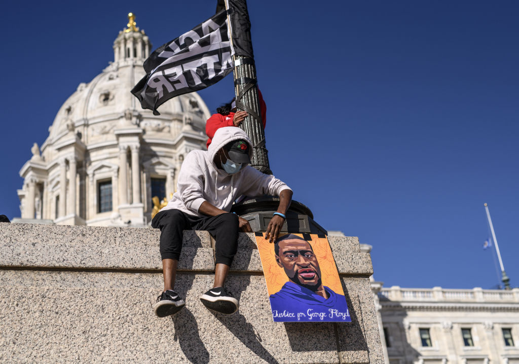 Activists Rally At Minnesota State Capitol Ahead Of Trial Of Derek Chauvin