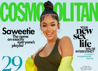 Saweetie covers Cosmopolitan's April issue