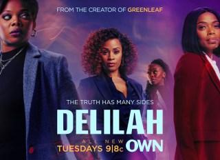 """Delilah"" Key Art and Production Still"