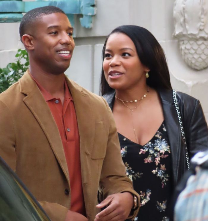 "Michael B. Jordan and Chante Adams film ""A Journal For Jordan"""