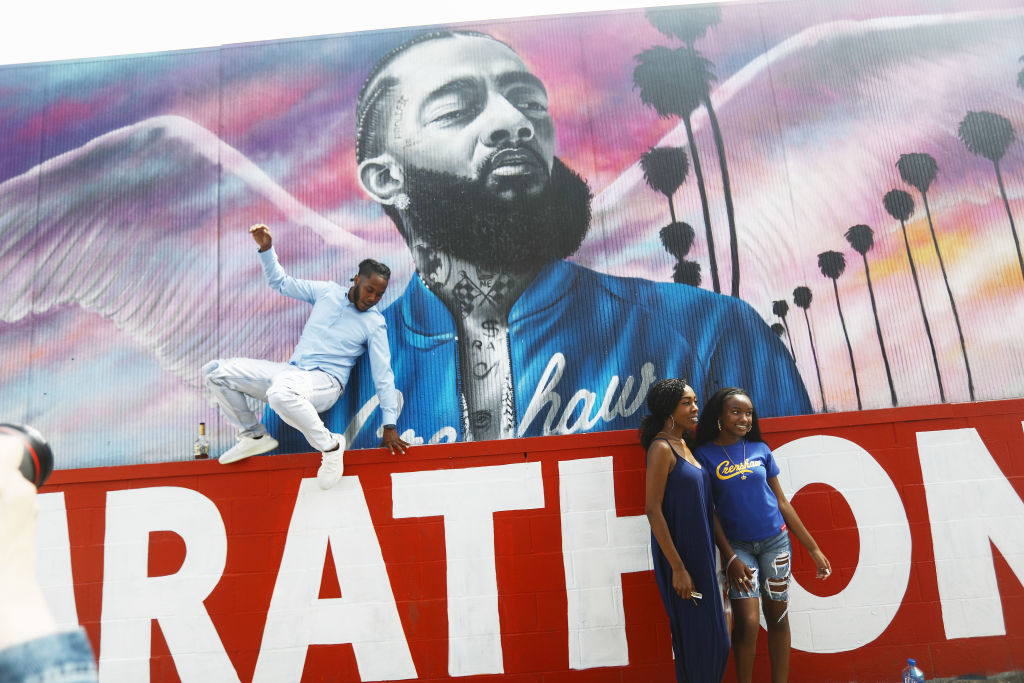 Funeral Procession Of Hip Hop Artist And Community Activist Nipsey Hussle Travels Through His L.A. Neighborhood