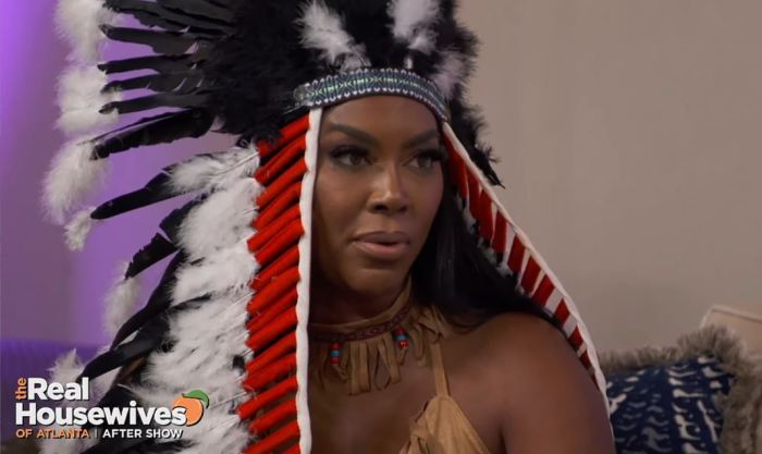 Kenya Moore Native American Headdress