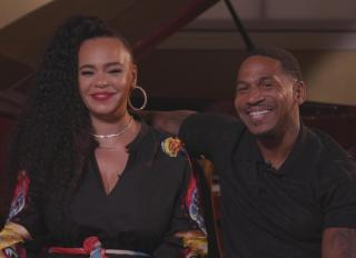 Behind Every Man screengrab of Faith Evans and Stevie J