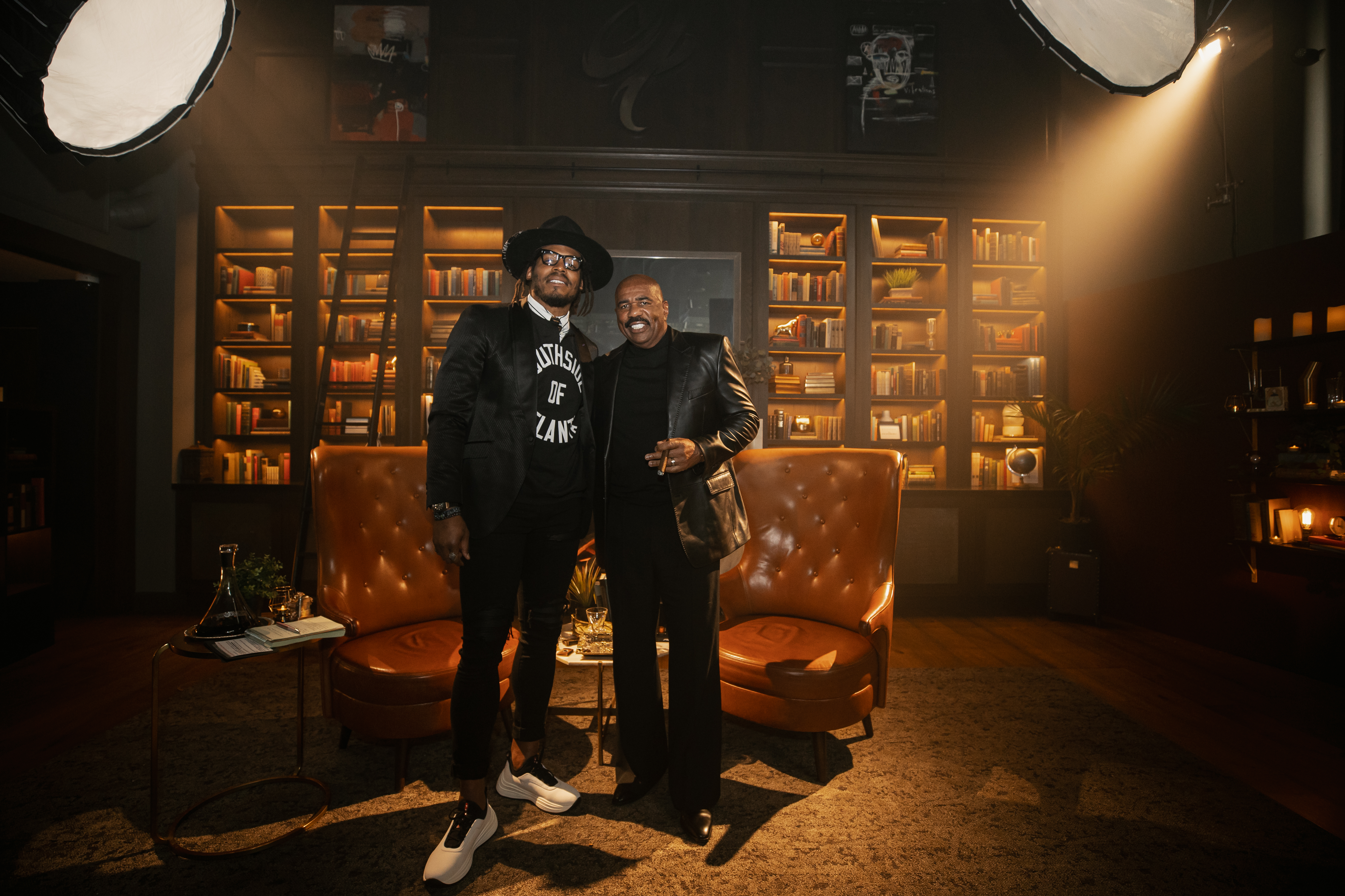 """Cam Newton Releases Episode 1 Of His New BET Show """"Smoke N' Sip"""" With Guest Steve Harvey [Video]"""