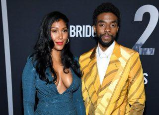 Chadwick Boseman and Simone Ledward