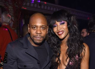 Dave Chappelle and Naomi Campbell