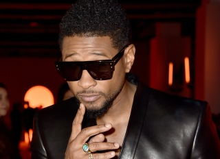 Usher At The Balmain Fashion Show