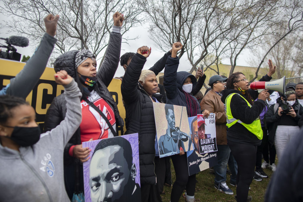 Protest after an officer shot a man in Brooklyn Center