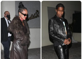 Rihanna and ASAP Rocky leave Delilah Lounge