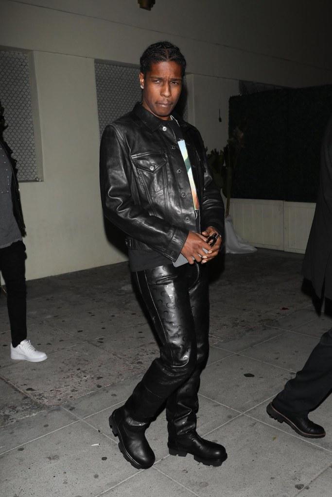 Rihanna and ASAP Rocky leave Delilah Lounge