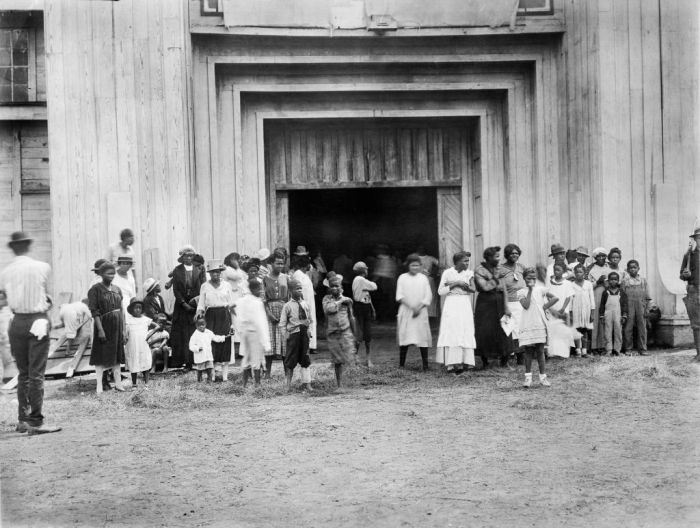 Entrance to Refugee Camp on Fair grounds after Race Riot, Tulsa, Oklahoma, USA, American National Red Cross Photograph Collection, June 1921