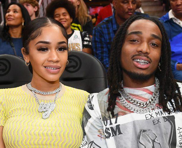 Celebrities Attend New Orleans Pelicans v Atlanta Hawks - Atlanta, GA