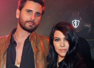 Scott Disick At 1 OAK Nightclub With Kourtney Kardashian