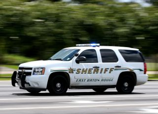 A Baton Rouge Police Vehicle