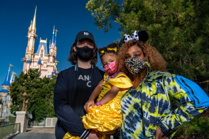 Serena Williams, Alexis Olympia and daughter Alexis Olympia Ohanian