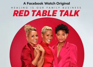 Red Table Talk Key Art with Jada Pinkett-Smith Adrienne Banfield-Norris and Willow Smith