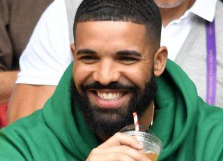 Drake attends a Wimbledon game