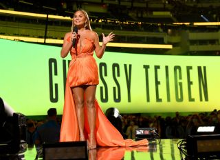 Chrissy Teigen at the Global Citizen VAX LIVE: The Concert To Reunite The World