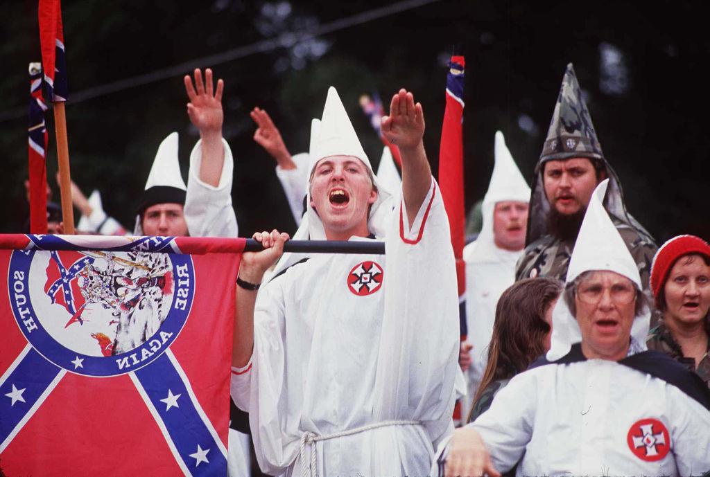 Ku Klux Klan rally.