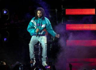 J. Cole attends The 68th NBA All-Star Game