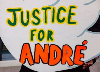 Justice For Andre Hill Sign