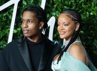 ASAP Rocky and Rihanna at The Fashion Awards 2019 - Red Carpet Arrivals