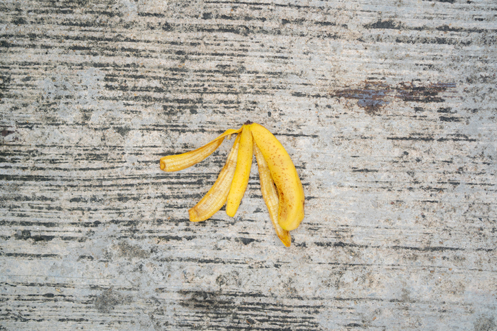banana peel on the street