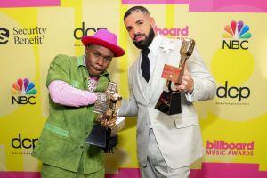 Drake and DaBaby at the 2021 Billboard Music Awards