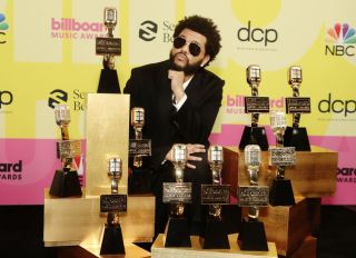 The Weeknd at the 2021 Billboard Music Awards