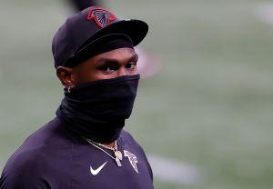 Julio Jones at the Carolina Panthers v Atlanta Falcons Game