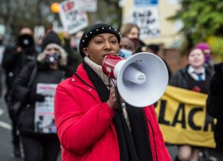 Sasha Johnson At A BLM Protest In London